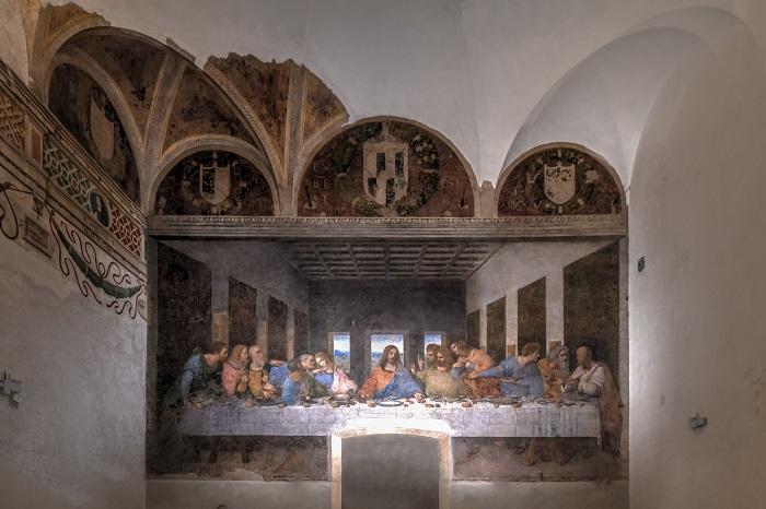 Cenacolo Vinciano La Pintura Más Famosa De Leonardo Da Vinci En Milán